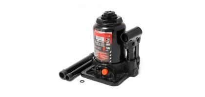 Домкрат бутылочный двухштоковый с клапаном 2т+доп. ремкомплект (h min-160мм, h max-340мм, ход штока-180мм) FORCEKRAFT FK-TF0202