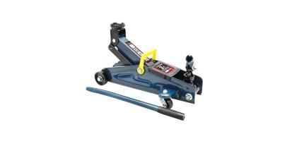Домкрат подкатной 2 т с вращающейся ручкой 180 градусов(h min 140мм, h max 340мм,вес 10 кг) с резиновой накладкой в кейсе Forsage F-TH22005C