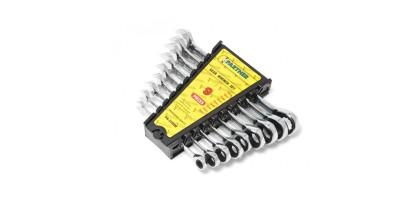 Набор ключей комбинированных трещоточных 9пр.(8,10,12,13,14,16,17,18,19мм) в пластиковом держателе Partner PA-3109M
