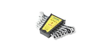 Набор ключей комбинированных трещоточных 7пр.(8,10,12,13,14,17,19мм) Partner PA-3107M