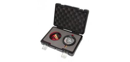 """Тестер давления топлива и вакуума в наборе с резьбовыми адаптерами 9пр., в кейсе """"Premium"""" Forsage F-904G4D"""