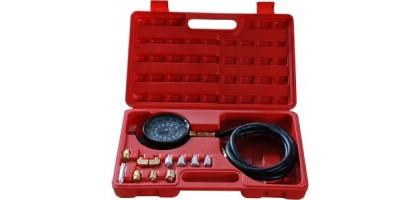 Тестер давления масла в комплекте с резьбовыми адаптерами переходниками 12пр., в кейсе Forsage F-912G02(F-910G1)