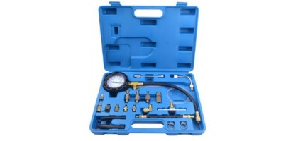 Набор для измерения давления в топливных системах (0-10 bar) 21пр. в кейсе. Rock FORCE RF-921G1(Набор)