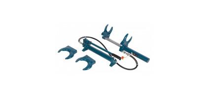 Стяжка пружин гидравлическая с выносным насосом и двумя комплектами получаш (макс. усилие 1т, рабочий диапазон 210-570мм) Forsage F-1500-2