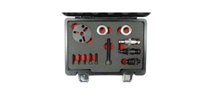 Комплект для снятия муфты компрессора кондиционера (тип компрессоров:GM R4, А6, HR-6, DA-6, V5 A/C, а так же Sanden SD: 505, 507, 508, 510, 575, 708 и Forsage F-04D1003D