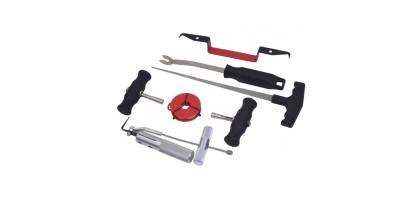 Набор инструментов для демонтажа автомобильных стекол 7пр, в ложементе Rock FORCE RF-907M1